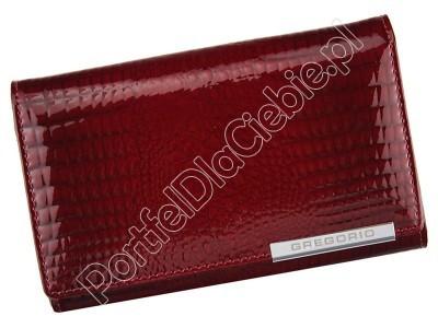 Portfel skórzany Gregorio GF112 - Kolor czerwony