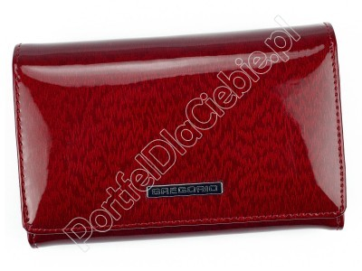 Portfel skórzany Gregorio PT-112 - Kolor czerwony