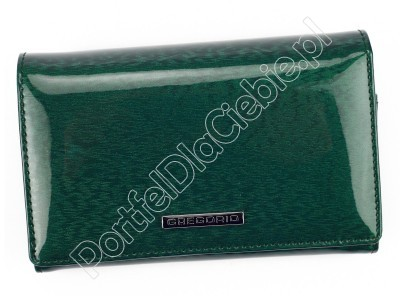 Portfel skórzany Gregorio PT-112 - Kolor zielony
