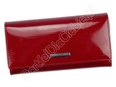 Portfel skórzany Gregorio LN-100 - Kolor czerwony