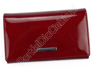 Portfel skórzany Gregorio LN-101 - Kolor czerwony