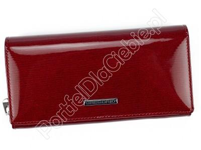 Portfel skórzany Gregorio LN-106 - Kolor czerwony