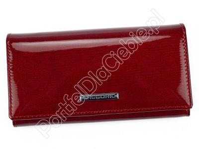 Portfel skórzany Gregorio LN-107 - Kolor czerwony