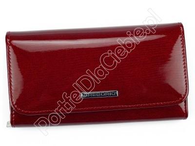 Portfel skórzany Gregorio LN-110 - Kolor czerwony