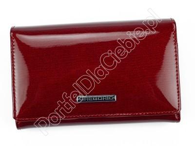 Portfel skórzany Gregorio LN-112 - Kolor czerwony