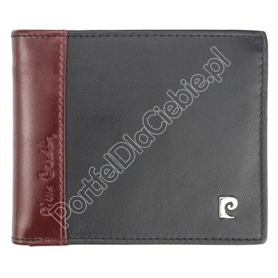 Portfel skórzany Pierre Cardin TILAK30 8824 - Kolor czarny + czerwony