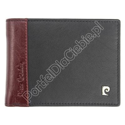 Portfel skórzany Pierre Cardin TILAK30 8805 - Kolor czarny + czerwony