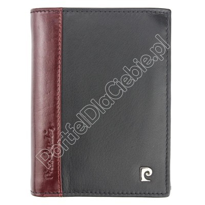 Portfel skórzany Pierre Cardin TILAK30 326 - Kolor czarny + czerwony