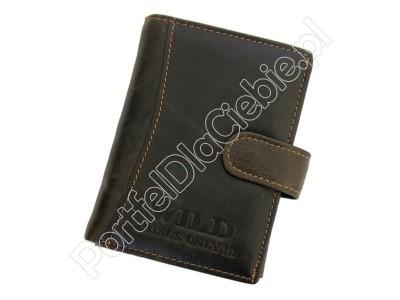 Portfel skórzany Wild Things Only 5354/5502 - Kolor ciemny brąz