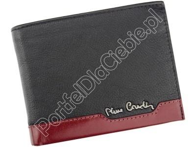 Portfel skórzany Pierre Cardin TILAK37 324 - Kolor czarny + czerwony