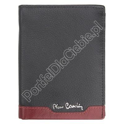 Portfel skórzany Pierre Cardin TILAK37 326 - Kolor czarny + czerwony