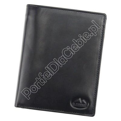 Portfel skórzany EL FORREST 861-67 RFID - Kolor czarny