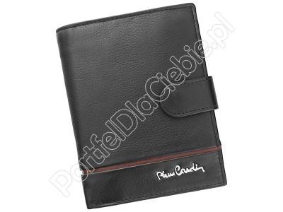 Portfel skórzany Pierre Cardin SAHARA TILAK15 331A - Kolor czarny + czerwony