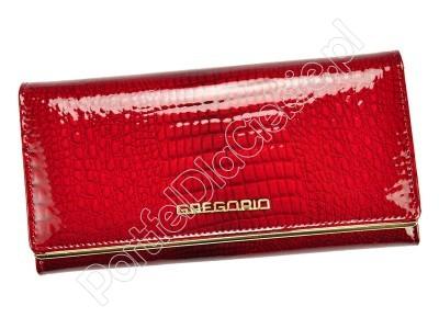 Portfel skórzany Gregorio SLL-100 - Kolor czerwony