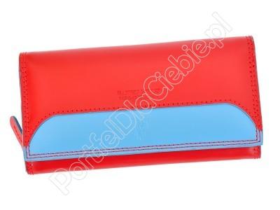 Portfel skórzany Harvey Miller Polo Club 8 PL09 - Kolor czerwony
