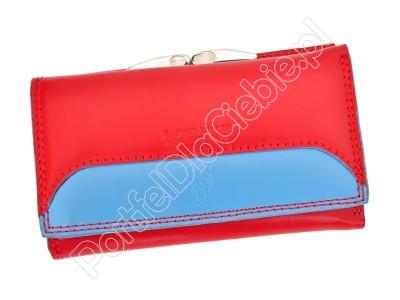Portfel skórzany Harvey Miller Polo Club 8 PL10 - Kolor czerwony