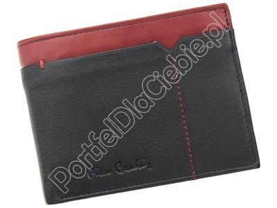 Portfel skórzany Pierre Cardin SAHARA TILAK14 8806 - Kolor czarny + czerwony