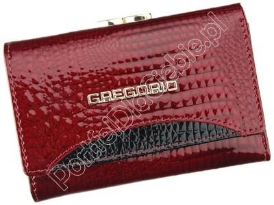 Portfel skórzany Gregorio GP-117 - Kolor czerwony
