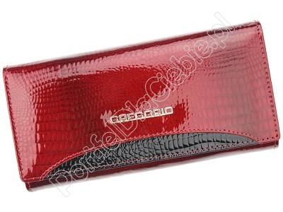 Portfel skórzany Gregorio GP-120 - Kolor czerwony