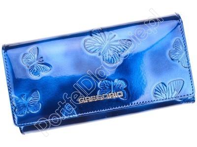 Portfel skórzany Gregorio BT-100 - Kolor niebieski