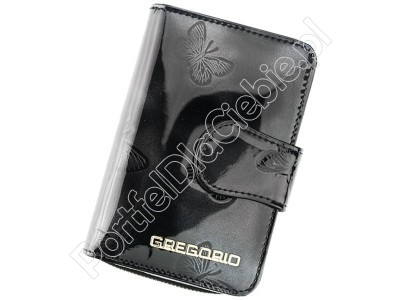 Portfel skórzany Gregorio BT-115 - Kolor czarny