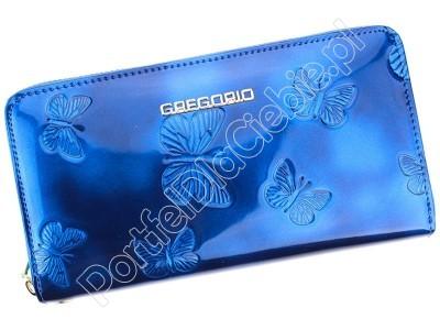 Portfel skórzany Gregorio BT-119 - Kolor niebieski