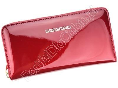 Portfel skórzany Gregorio SH-118 - Kolor czerwony