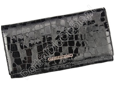 Portfel skórzany Gregorio FS-100 - Kolor czarny