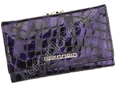 Portfel skórzany Gregorio FS-108 - Kolor fioletowy