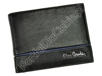 Portfel skórzany Pierre Cardin SAHARA TILAK15 8805 RFID - Kolor czarny + niebieski