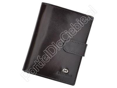 Portfel skórzany Cefirutti 75699-9 - Kolor ciemny brąz